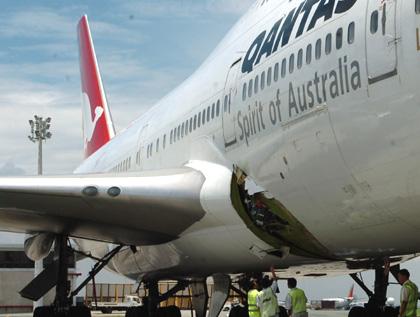 Qantas 747 hole