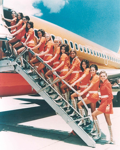 "Southwest Flight Attendants in the ""Good 'ol Days"""