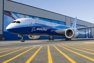 787 On Display at Everett Factory Following 787 Premier - July 8. Photo courtesy Boeing.