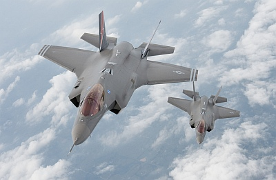 F-35s in Flight