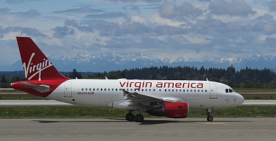 Virgin America photo by Ron McCormick taken from the SEA terminal.
