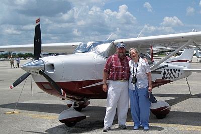 Micah and Harriet with the Cessna182