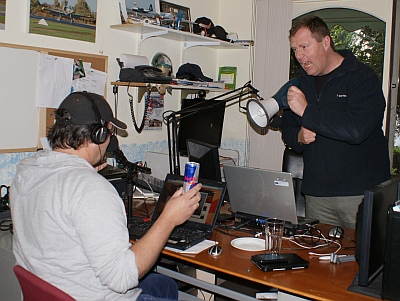 Steve and Grant recording the start of Desk 168