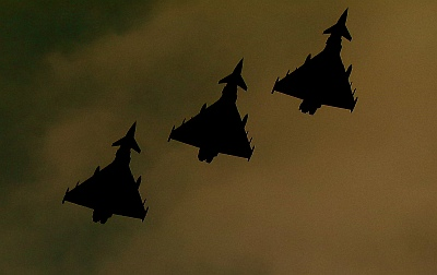 3 Eurofighter Typhoons by Paul Thompson