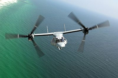 MV-22 Osprey over the Gulf of Mexico