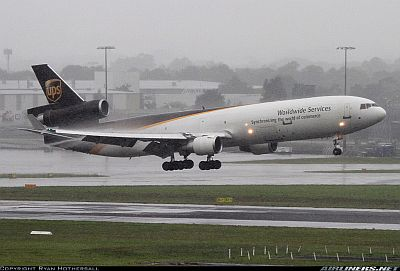 United Parcel Service McDonnell Douglas MD-11F, Sydney - Kingsford Smith International (Mascot) (SYD / YSSY), February 29, 2012  by Ryan Hothersall