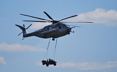 CH-53E  HMH-772 with a Sling loaded Humvee