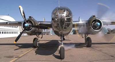 Miss Mitchell B-25 engine runup