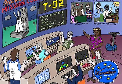Airplane Geeks Mission Control by the Art Department at ThrombyAir.com, low cost air travel taken to its logical extreme!
