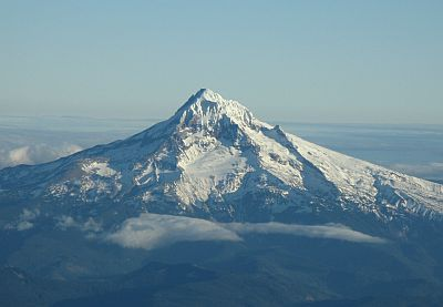Mount Hood after departure from Portland International by David Salisbury