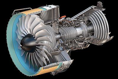 Engine Alliance GP7200, center cut sketch