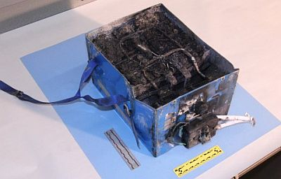 NTSB photo of Lithium Ion battery