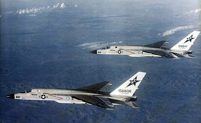 Two U.S. Navy North American RA-5C Vigilantes