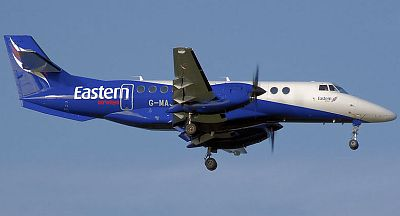 British Aerospace Jetstream 41 (G-MAJX) lands at Birmingham International Airport, England.  Photographed by Adrian Pingstone in August 2007