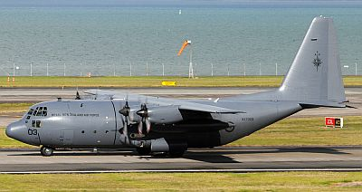 A Royal New Zealand Air Force C-130H at Auckland in 2012 by John Thomson