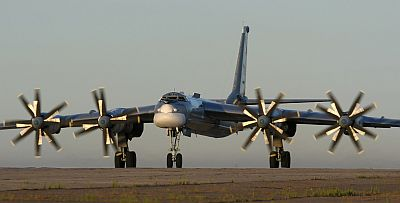 Russian Tupolev Tu-95MS (28 RED) at Engels Air Force Base, Russia, by Marina Lystseva