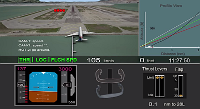 Animation of Asiana Flight 214 accident sequence
