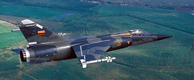 Mirage F1JA in flight over Ecuador 1986