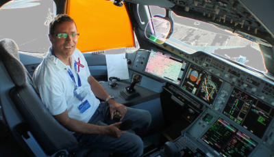 Pieter in the A350