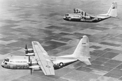 YC-130s formation