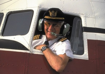 Captain Jack Curtis. Photo from Aero Australia Magazine.