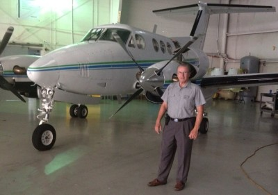 Beechcraft King Air F90 and Don Sebastion