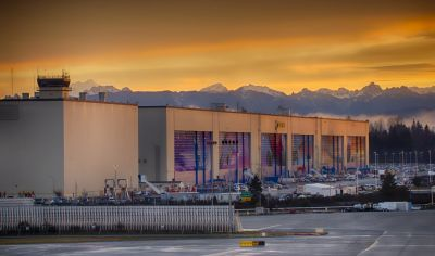 Boeing Factory Doors in Sunrise Joe Kunzler