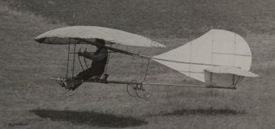 John J. Montgomery aloft in The Evergreen