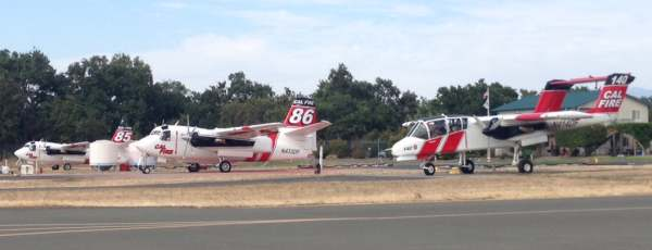 S2F Firecats and an OV-10 Bronco