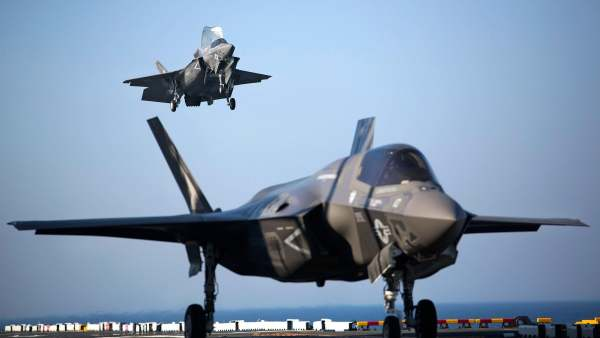 Two F-35B Lightning II Joint Strike Fighters