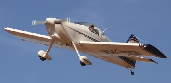 Mark Newton in his RV-6