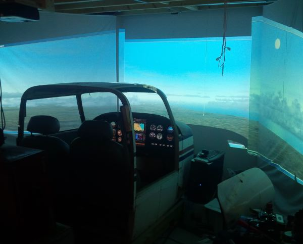 Shawn's Piper Twin Comanche flight sim