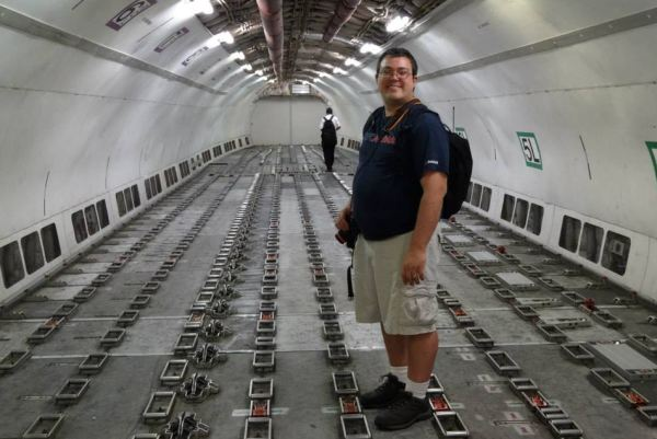 Ben Granucci inside Fedex A300 at EWR's Airport Day