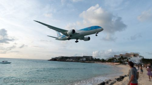 Plane spotting at St Maarten