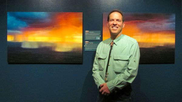 Greg Brown with artwork