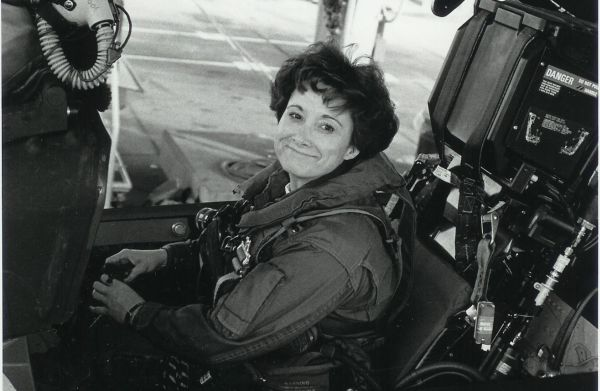 Trish Beckman in the F/A-18