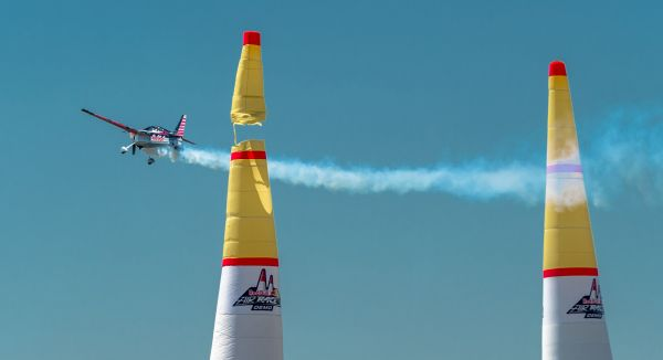 Kirby Chambliss performs at the Red Bull Air Race Demo