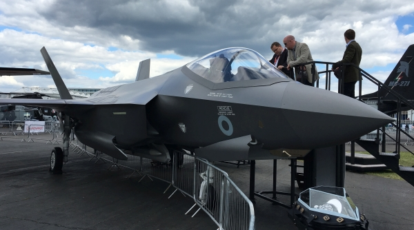 F35 on static display.