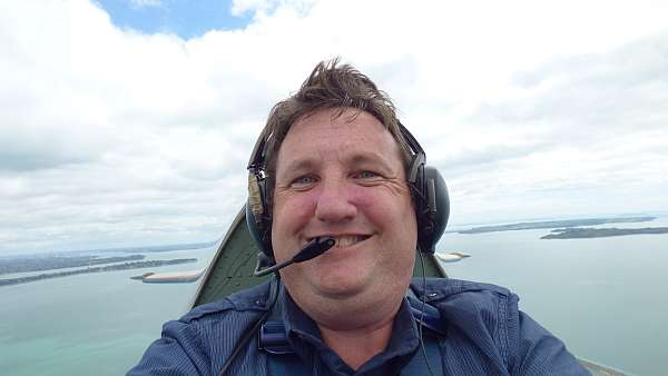 Dave Homewood in the Spitfire