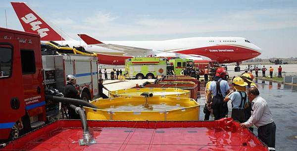 The Global SuperTanker in Chile for aerial firefighting operations.