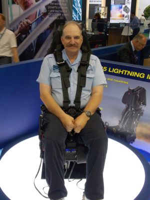 Lockheed Martin F-35 Lightning II ejection seat from Martin-Baker at the Paris Air Show.