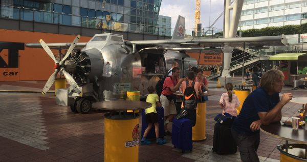 Smokey Joe's food stand outside Munich terminal 2, by Mark Newton.