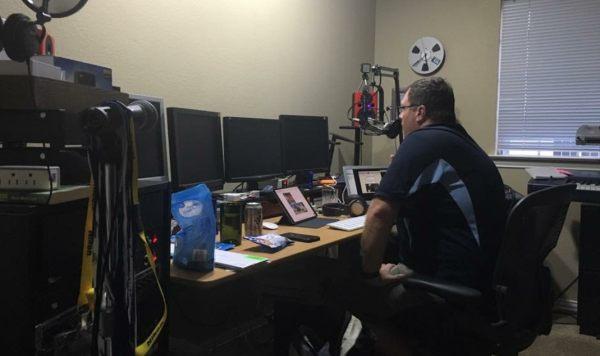 Steve Visscher in Stuart Stevensons studio