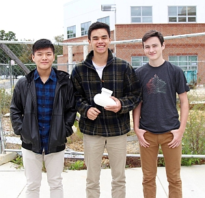 EAA Founder's Innovation Prize winners Justin Zhou, Thomas Baron, and Max Lord.