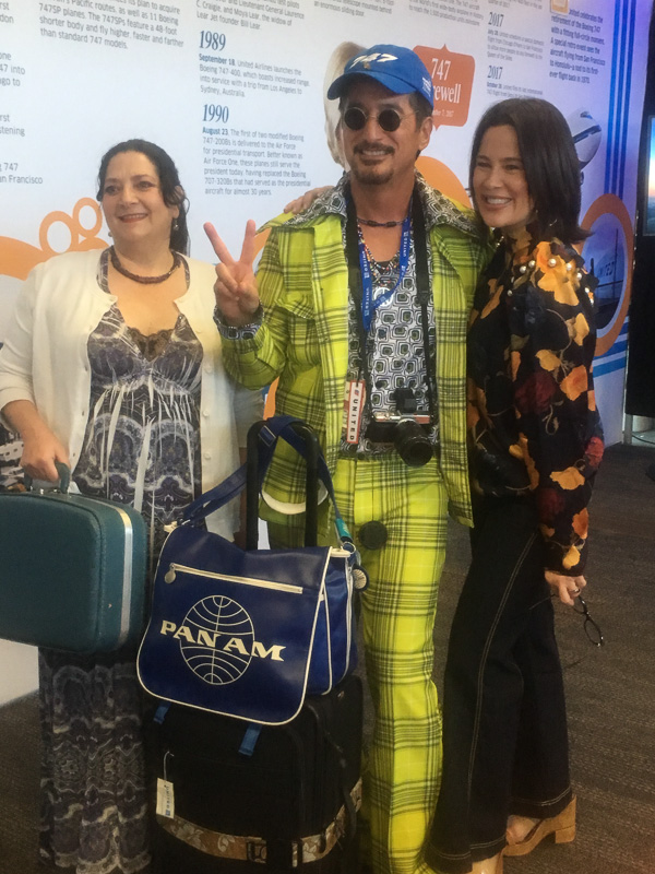 Winner of the best 1970s outfit at the last United flight of the Boeing 747