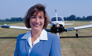 Dr. Peggy Chabrian, Woman in Aviation International.