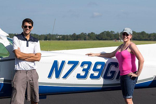 Student pilot Nicki.