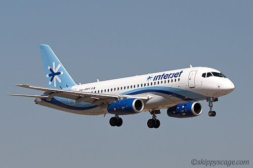 Interjet at Toluca. Mexico. Photo by Paul Filmer.