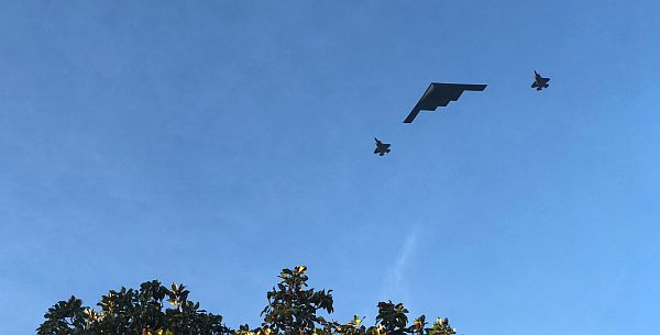 2018 Rose Parade flyover. Brian Coleman photo.