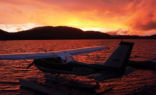 Igor Sikorsky III plane at Munsungan Lake, Maine.